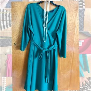 Lands End Green Dress - Long Sleeves